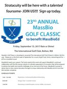 23rd Annual MassBio Golf Classic to benefit MassBioEd
