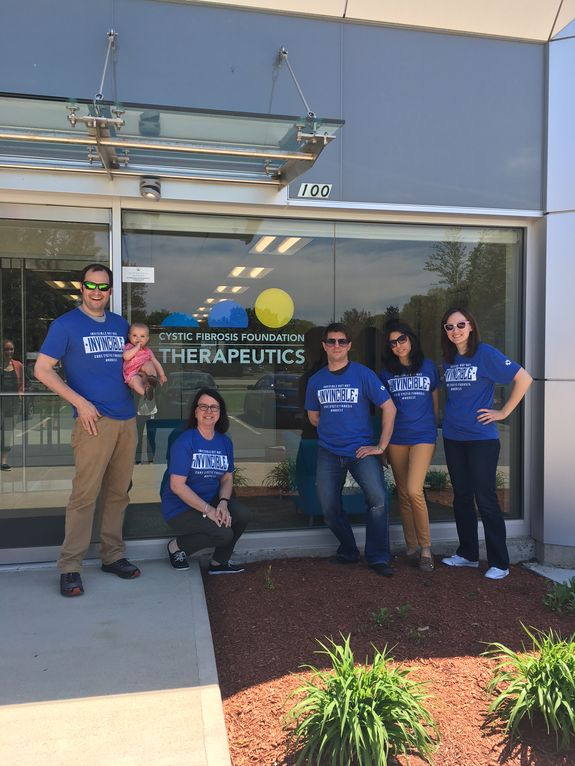 OUR FIRST MODELS for the 2017 #NOREST t's- our friends doiwn at the CFFT took advantage of the spring weather (and a very cute baby) to snap this shot outside!