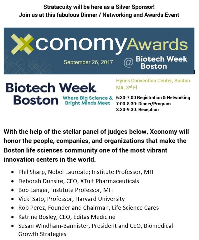Bring your friends and coworkers to the fabulous event. Xconomy will be putting on a dinner, awards & networking event of the week!!  September 27 @ 6:30.  The room has a limit so register early to secure your spot!