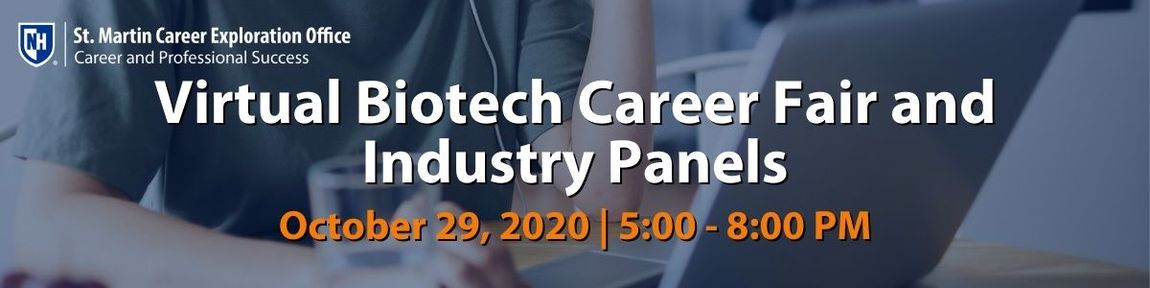 University of New Hampshire: Virtual Biotech Career Fair and Industry Panel