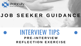 Pre-Interview Reflection Exercise