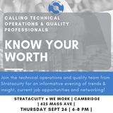 KNOW YOUR WORTH- A CMC, Program Management & Quality Recruitment Event